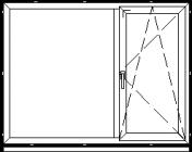 Atidaromas ir atverčiamas dviejų dalių langas L-3