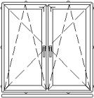 Atidaromas ir atverčiamas dviejų dalių langas L-4