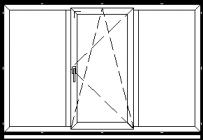 Atidaromas ir atverčiamas trijų dalių langas L-5