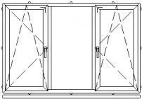 Atidaromas ir atverčiamas trijų dalių langas L-6